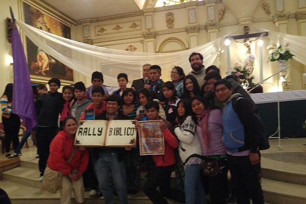 Jóvenes de la parroquia Nuestra Señora del Rosario participan del Rally bíblico de la diócesis San Felipe apóstol